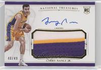 Rookie Patch Autographs - Larry Nance Jr. /49