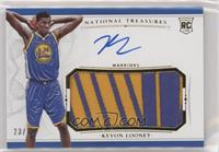 Rookie Patch Autographs - Kevon Looney #/99