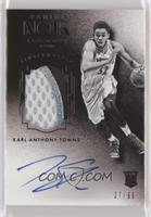 Auto Patch Black and White Rookies - Karl-Anthony Towns #/99