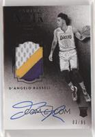 Auto Patch Black and White Rookies - D'Angelo Russell #/99