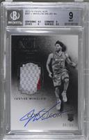Auto Patch Black and White Rookies - Justise Winslow [BGS 9 MINT] #/99