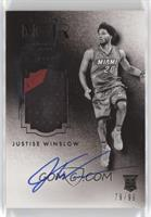 Auto Patch Black and White Rookies - Justise Winslow #/99