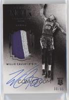 Auto Patch Black and White Rookies - Willie Cauley-Stein #/99