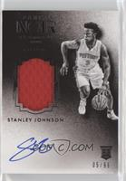 Auto Patch Black and White Rookies - Stanley Johnson #/99