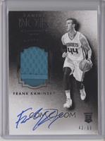 Auto Patch Black and White Rookies - Frank Kaminsky #/99