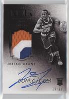 Auto Patch Black and White Rookies - Jerian Grant #/99