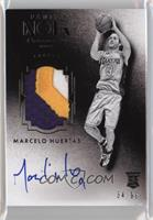 Auto Patch Black and White Rookies - Marcelo Huertas [Noted] #/99