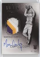 Auto Patch Black and White Rookies - Marcelo Huertas #/99
