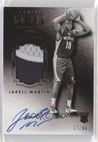 Auto Patch Black and White Rookies - Jarell Martin #/99
