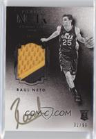 Auto Patch Black and White Rookies - Raul Neto #/99