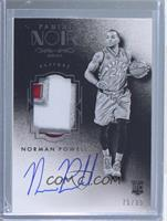 Auto Patch Black and White Rookies - Norman Powell #/99