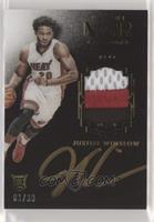Auto Patch Color Rookies - Justise Winslow #/99