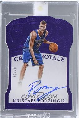 2015-16 Panini Preferred - [Base] - Purple #200 - Crown Royale - Kristaps Porzingis /49 [Uncirculated]