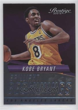 2015-16 Panini Prestige - Brilliant Beginnings #8 - Kobe Bryant