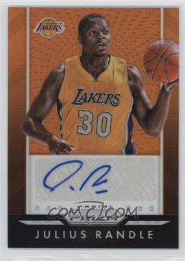2015-16 Panini Prizm - Autographs - Orange Prizm #P-JRD - Julius Randle /65