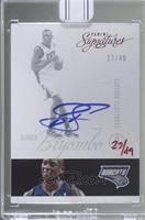 Bismack Biyombo (2012-13 Panini Signatures Red) [Buy Back] #/49