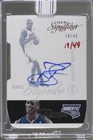 Bismack Biyombo (2012-13 Panini Signatures Red Die Cut) [Buy Back] #/49