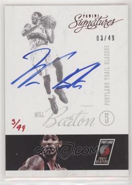 2015-16 Panini Replay - Buyback Autograph #12SI-33 - Will Barton (2012-13 Panini Signatures Red) /49