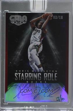2015-16 Panini Replay - Buyback Autograph #14GASRS-3 - Khris Middleton (2014-15 Panini Gala Starring Role Signatures Crimson) /10 [Buy Back]
