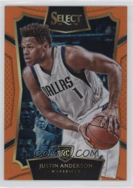 2015-16 Panini Select - [Base] - Orange Prizm #85 - Concourse - Justin Anderson /60