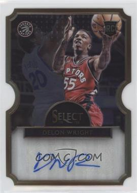 2015-16 Panini Select - Die-Cut Rookie Autographs #17 - Delon Wright /60