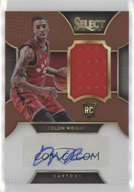 2015-16 Panini Select - Rookie Autograph Materials - Copper Prizm #RA-DWR - Delon Wright /49
