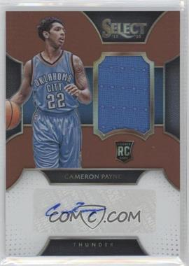 2015-16 Panini Select - Rookie Autographed Materials - Copper Prizms #RA-CPY - Cameron Payne /49