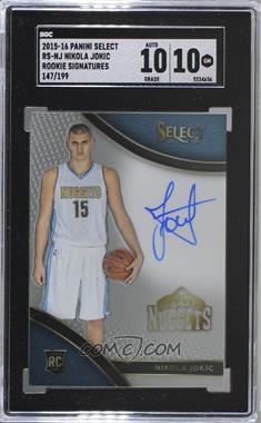 2015-16 Panini Select - Rookie Signatures #RS-NJ - Nikola Jokic /199 [SGC10GEM]