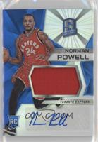 Rookie Jerseys Autograph Prizms - Norman Powell