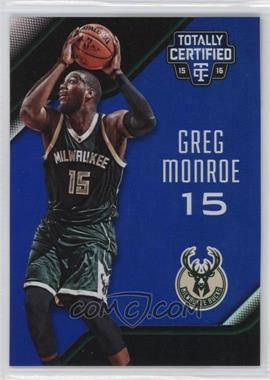 2015-16 Panini Totally Certified - [Base] - Mirror Blue #44 - Greg Monroe /99