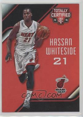 2015-16 Panini Totally Certified - [Base] - Mirror Red #54 - Hassan Whiteside /149