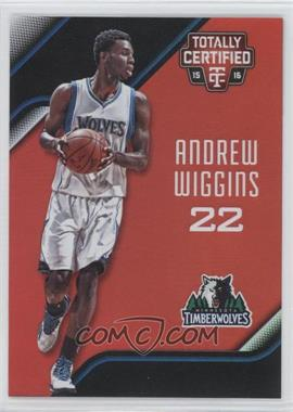 2015-16 Panini Totally Certified - [Base] - Mirror Red #88 - Andrew Wiggins /149