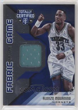2015-16 Panini Totally Certified - Fabric of the Game Materials - Blue #FG-AM - Alonzo Mourning /99