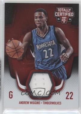 2015-16 Panini Totally Certified - Totally Certified Materials - Red #TCM-AW - Andrew Wiggins /199