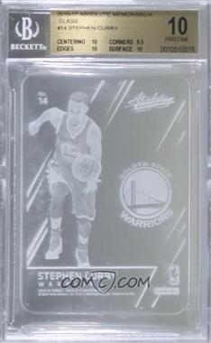 2016-17 Panini Absolute - Glass #14 - Stephen Curry [BGS 10 PRISTINE]
