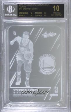 2016-17 Panini Absolute - Glass #14 - Stephen Curry [BGS10BLACKLABEL]