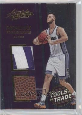 2016-17 Panini Absolute - Tools of the Trade Rookie Materials - Dual Prime #9 - Georgios Papagiannis /49