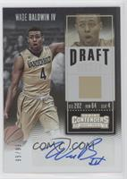 College Ticket Variation - Wade Baldwin IV (Gold Jersey) #/99