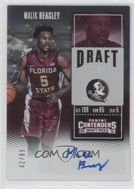 2016-17 Panini Contenders Draft Picks - [Base] - Draft Ticket #124.1 - College Ticket - Malik Beasley (Red Jersey) /99