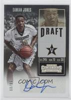 College Ticket - Damian Jones (Jersey Number Fully Visible) #/99