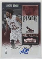 College Ticket - DeAndre' Bembry /15