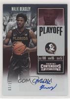 College Ticket Variation - Malik Beasley (Black Jersey) #/15