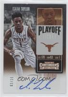 College Ticket - Isaiah Taylor /15