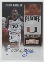 College Ticket - Sheldon McClellan #/15