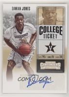 College Ticket - Damian Jones (Jersey Number Fully Visible)