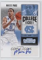 College Ticket - Marcus Paige (Left Hand Out of Frame)