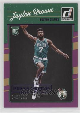 2016-17 Panini Donruss - [Base] - Press Proof Purple #153 - Rookies - Jaylen Brown /199