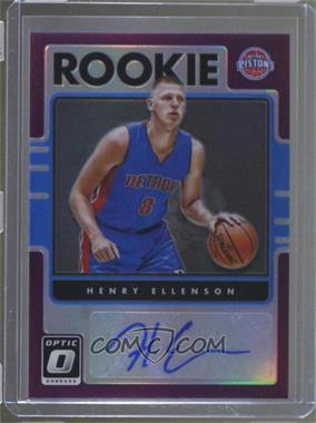 2016-17 Panini Donruss Optic - Rookie Signatures - Purple #34 - Henry Ellenson