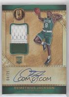 Rookie Jersey Autographs Prime - Demetrius Jackson [EXtoNM] #/25