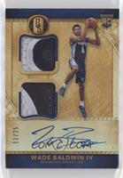 Rookie Jersey Autographs Double Prime - Wade Baldwin IV #/25